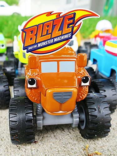BLAZE AND THE MONSTER MACHINES Race + Grizzly Bear Truck and a Blaze Monster Truck Parody