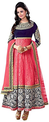 Chariot-Ethics-Womens-Net-Anarkali-Salwar-Suit-Set-Mahi-PinkPinkFree-Size