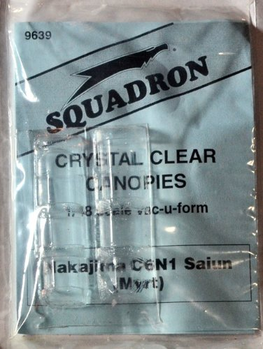 Squadron Products Nakajima C6N1 Saiun (Myrt) Vacuform Canopy