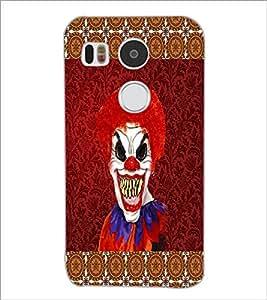 PrintDhaba Scary Joker D-4067 Back Case Cover for LG NEXUS 5X (Multi-Coloured)