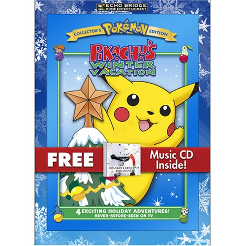 Pokemon Pikachu's Winter Vacation with Bonus CD: Children's Christmas Sing-alongs