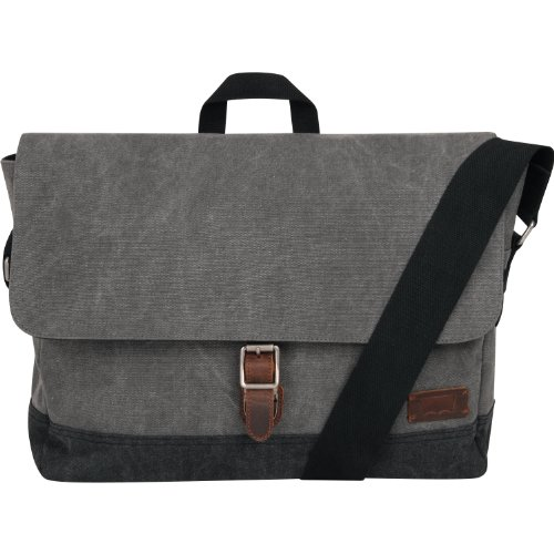 Levi's Luggage Genesis 16 Inches Messenger Bag, Grey/Charcoal, One Size