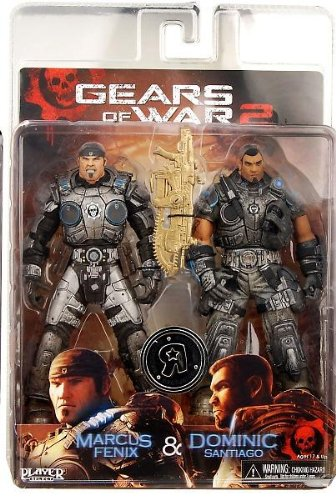 NECA Gears of War 2 Marcus Fenix & Dominic Santiago Action Figure 2-Pack