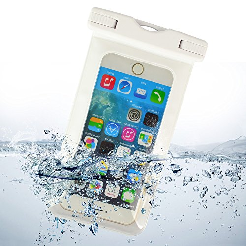 ECCRIS discount duty free Sumaclife Waterproof Case, with Neck Strap Waterproof Cell Phone Case for 5.5 Inch Devices, for Apple iPhone 4S / Apple iPhone 5 / Apple iPhone 5C / Apple iPhone 5S / Apple iPhone 6 / Apple iPhone 6 Plus (white)