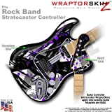 Abstract 02 Purple WraptorSkinz Skin fits Rock Band Stratocaster Guitar for Nintendo Wii, XBOX 360, PS2 & PS3 (GUITAR NOT INCLUDED)