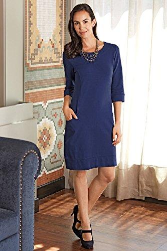 Fair Indigo Princess Seam Organic Fair Trade Pocket Dress
