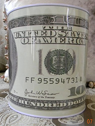 100 Dollar Bill Tin Money Bank. $100 Bill Money Bank, Benjamin Franklin Coin Bank