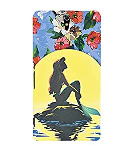 Fuson Premium Back Case Cover Cute girl in beach With red Background Degined For Sony Xperia C5 Ultra Dual::Sony Xperia C5 E5553 E5506::Sony Xperia C5 Ultra