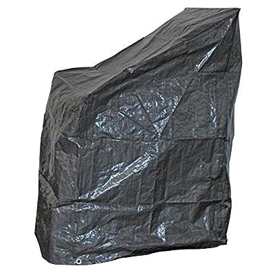 Schutzhülle grau Stapelstuhl 68x68x120 cm von Lesli Living bei Gartenmöbel von Du und Dein Garten