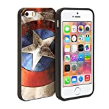 Gmyle Cover Case Coated (Captain US Image) for iPhone 5 & 5S - Captain America