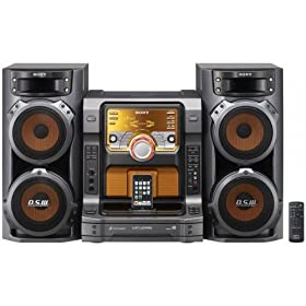 "Sony Muteki 560 Watts Hi-Fi Stereo Shelf Audio System with Integrated iPod� Dock, 5 Disc CD Changer, Game SyncTM Mixing & 3 Way Bass Reflex Speakers with Dual 6.75"" Woofers"