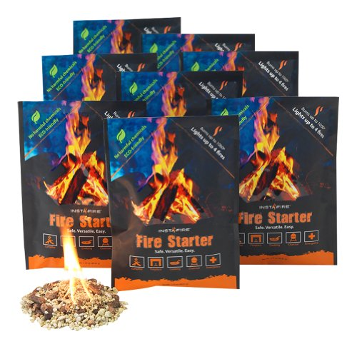 InstaFire Fire Starter, 8 Durable Mylar Packs