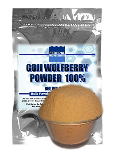 GOJI POWDER 100% - 2.5 Ounces (70 Grams) Lab Grade Sample - Goji Berry Powder - Wolfberry Powder - Lycium barbarum - Made by Federal Ingredients in Buffalo, NY - aka (Himalayan Yogurt Goji Berries compare prices)