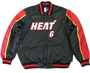 JH Design Miami Heat Lebron James 6 Lightweight Satin Jacket 2XL,3XL by J.H. Design