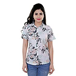 Tantra Amelie Women's Top, White Floral Printed, Small