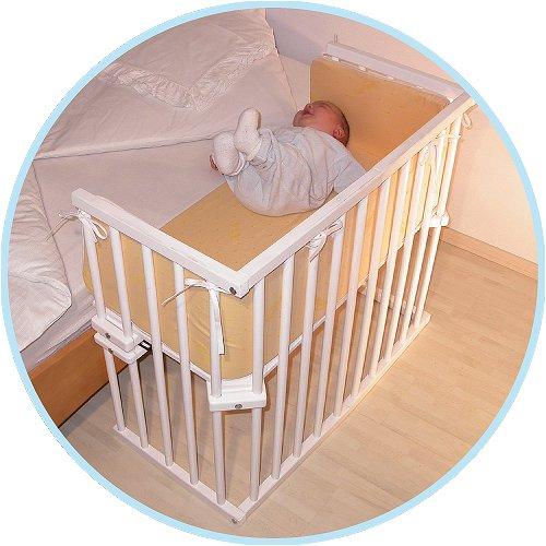 102 łóżeczko Dostawka Do łóżka Babybay Midi Białe