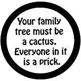 Family Tree, Funny Sayings, In A Circle, Vinyl Car Decal, 'Red', '5-by-5 inches'