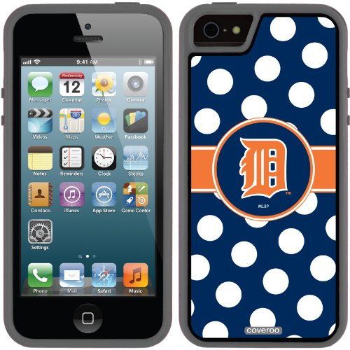 Best Price Detroit Tigers - Polka Dots design on a Black iPhone 5s / 5 Guardian / Ruggedized Case by Coveroo
