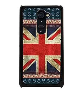 PrintDhaba UK Flag D-3063 Back Case Cover for LG G2 (Multi-Coloured)