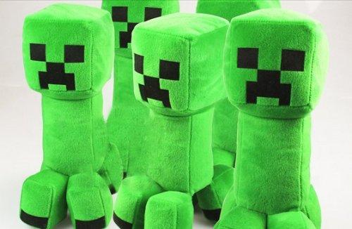 コスプレ小道具/小物♪Minecraft(マインクラフト)クリーパー(Creeper))ぬいぐるみ 人形 30cm コスチューム