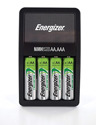 energizer recharge value charger with 4 aa nimh rechargeable batteries new ebay. Black Bedroom Furniture Sets. Home Design Ideas
