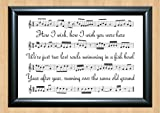 Pink Floyd 'Wish You Were Here' Song Sheet Lyrical Art Print A4 Size