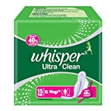 Whisper Ultra Clean, XL Wings, 15 Pads