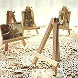 iDealhere-10x-Holz-Knstler-Staffelei-Dreieck-Hochzeit-Tisch-Stand-Anzeige-Kartenhalter