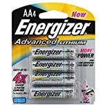 Energizer Advanced Lithium Batteries, AA, 4 batteries