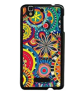 Multi colour Pattern 2D Hard Polycarbonate Designer Back Case Cover for YU Yureka :: YU Yureka AO5510