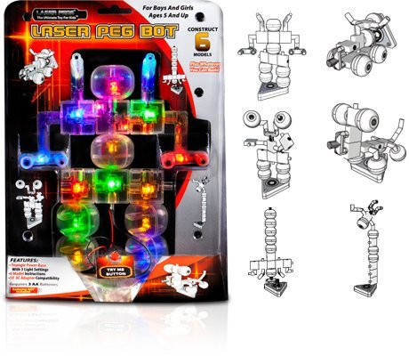 Light Up Building Construction Set - Laser Pegs