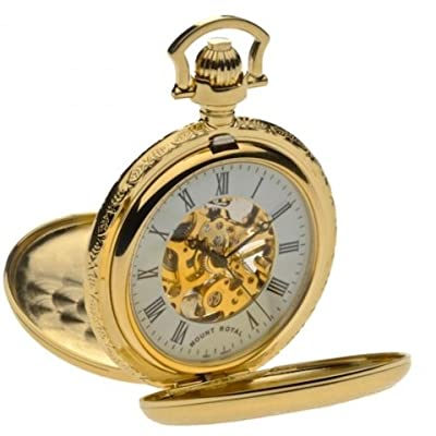 Mount Royal Pocket Watch B41 Gold Plated Double Half Hunter