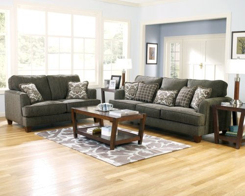 Buy Low Price AtHomeMart 2 PCs Contemporary Design Upholstery Sofa and Loveseat Set (ASLY1050038-1050035)