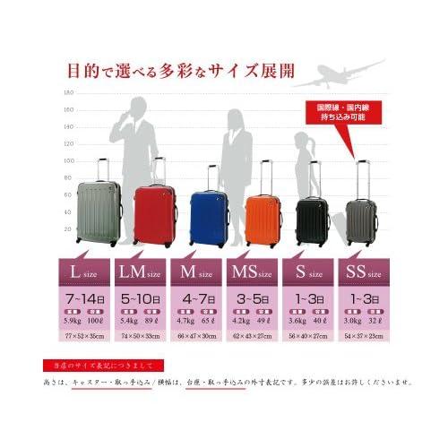TSA搭載 キャリーバッグ スーツケース NewFK1037 鏡面加工 スクラッチガンメタ M型(4~7日用)
