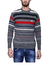 Leebonee Acrylic Men's Full Sleeve Medium Grey Mixture Sweater