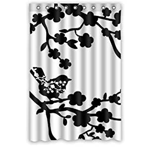Generic Personalized Art Print Birds And Flowers Black And White Design Sold By Too