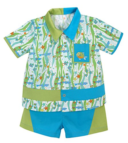 Stephan baby go fish fishie print bowling shirt and diaper for Go fish clothing