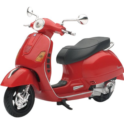 New Ray Vespa GTS 300 Super Replica Motorcycle Toy - Red / 1:12 Scale