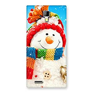 Delighted Snowman Multicolor Back Case Cover for Micromax Canvas Xpress A99