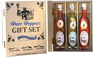 Hot Sauce Pure Pepper Gourmet Gift Set a Culinary Requisite by So. West Specialty