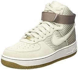 Nike WomenÕs Air Force 1 HI Basketball Shoes Light Bone/Gum Light Brown/Summit White/Light Bone