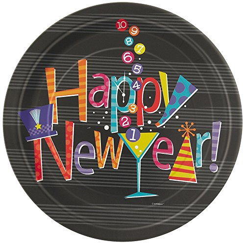 New Years Countdown Dessert Plates, 8ct