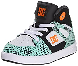 DC Rebound SE UL High Top Skate Shoe (Toddler), Black/White/Blue, 10 M US Toddler