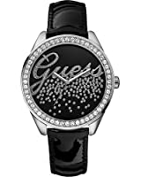 Guess - W60006L5 - Montre Femme - Quartz Analogique - Bracelet Cuir Noir