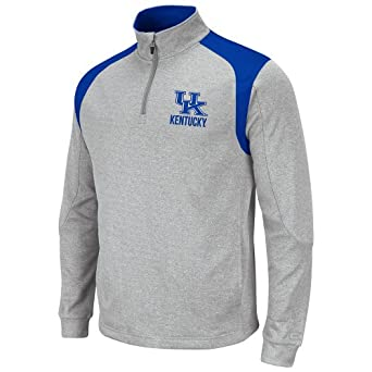 NCAA Kentucky Wildcats Mens Frost 1 4 Zip Fleece Sweatshirt by Colosseum
