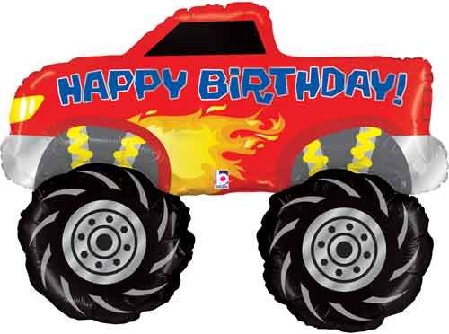 "40"" Birthday Monster Truck Shape Balloon"