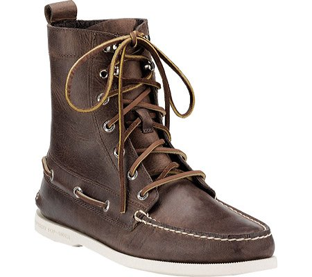 Sperry Top-Sider Men's A/O 7-Eye Boot Moc Toe Shoes,Brown,7.5 M US