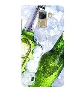Printvisa Premium Back Cover Beer Bottles Depicting Summertime Design For Huawei Honor 7