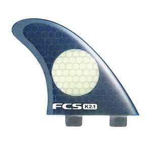 FCS K2.1 PC Tri Fin Set - Black/White