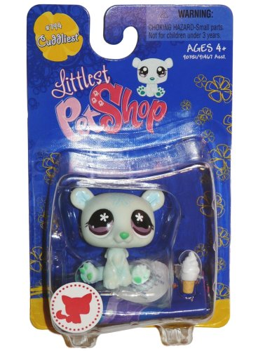 Buy Low Price Hasbro Littlest Pet Shop Cuddliest Single Figure Polar Bear (B001QDGQZS)